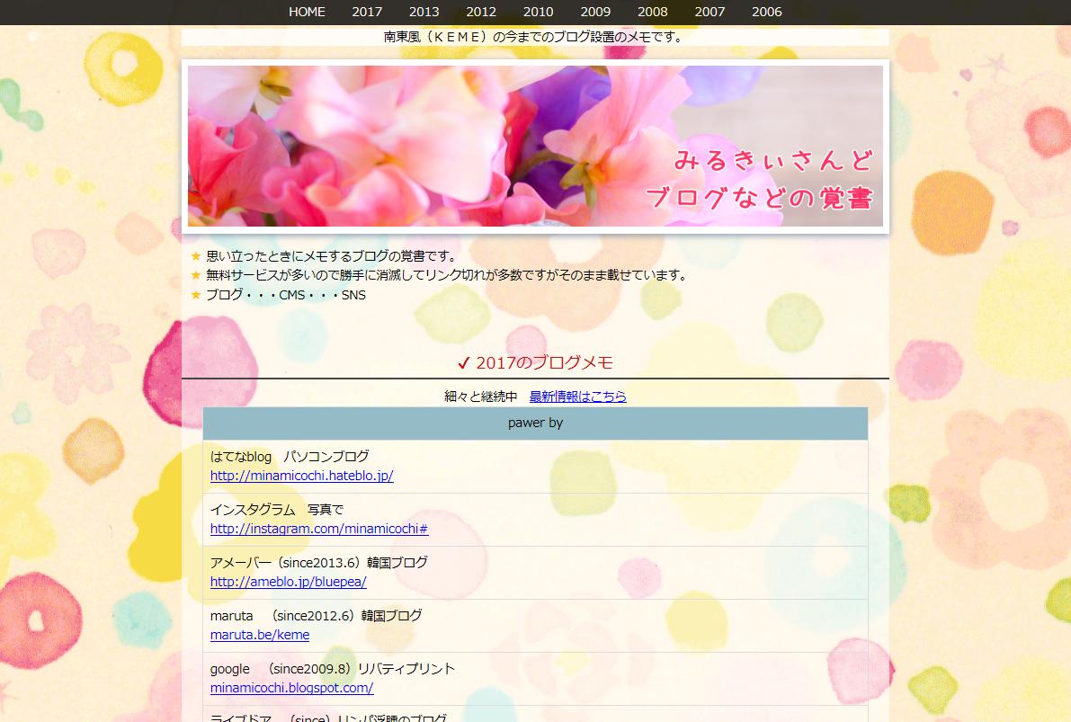 ブログ覚書